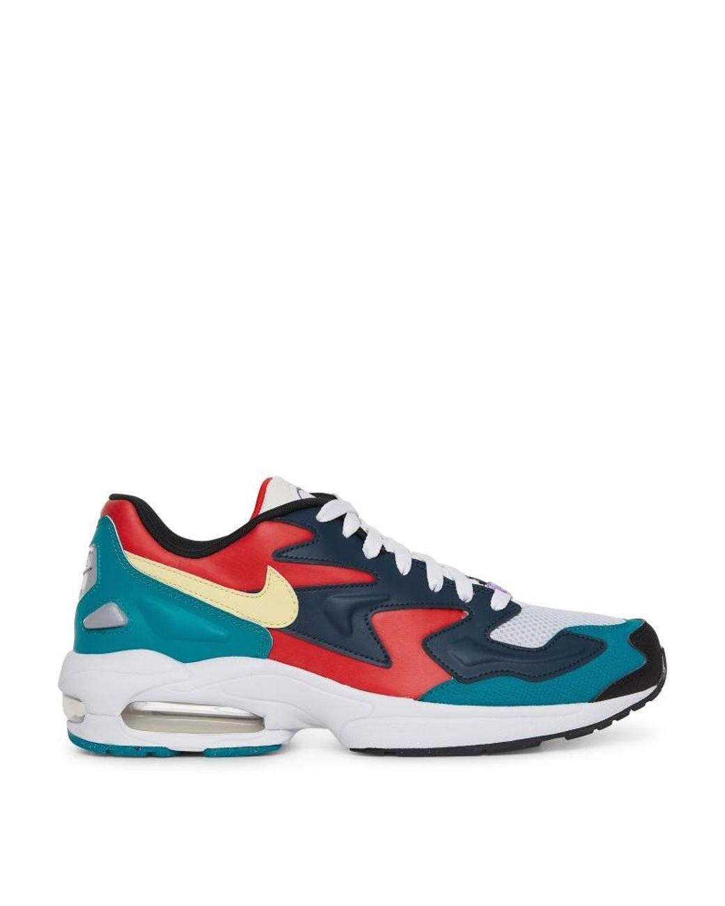 21cd17fa Nike Air Max 2 Light Sneakers in Blue for Men - Lyst