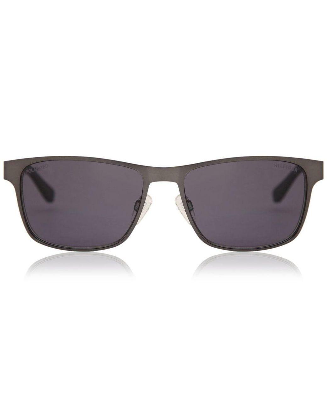 Tommy Hilfiger Sunglasses TH 1283//S FO5 3H Ruthenium White Grey Polarized