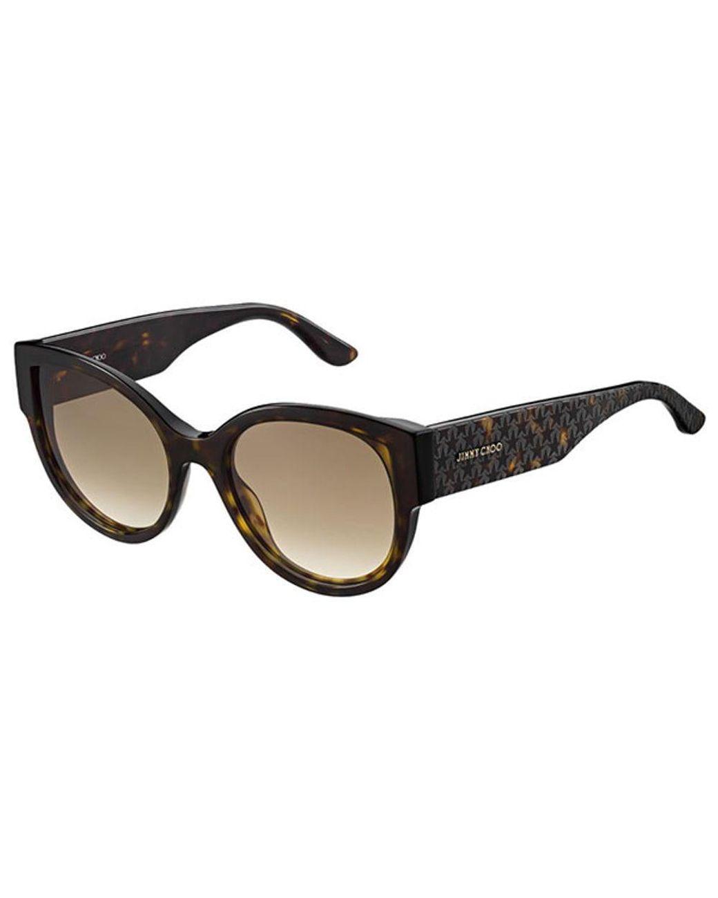 Jimmy Choo BEBI-S-PUU-9C-53 Square Women's Tortoise Frame Grey Lens Sunglasses