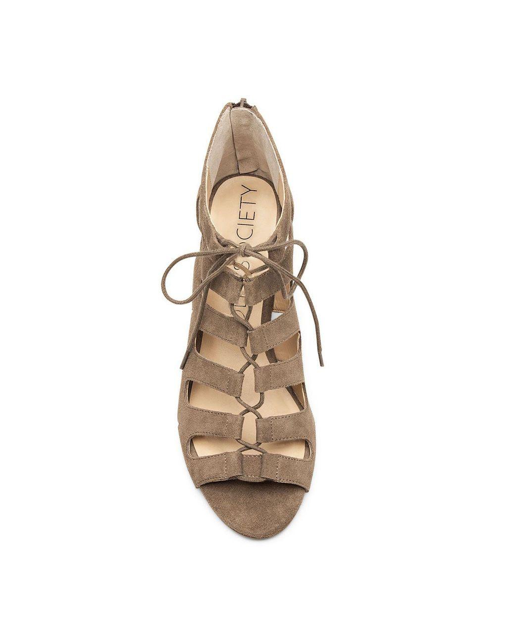 Wedge Women's Brown Up Sandal Lace Freyaa xBeCdo