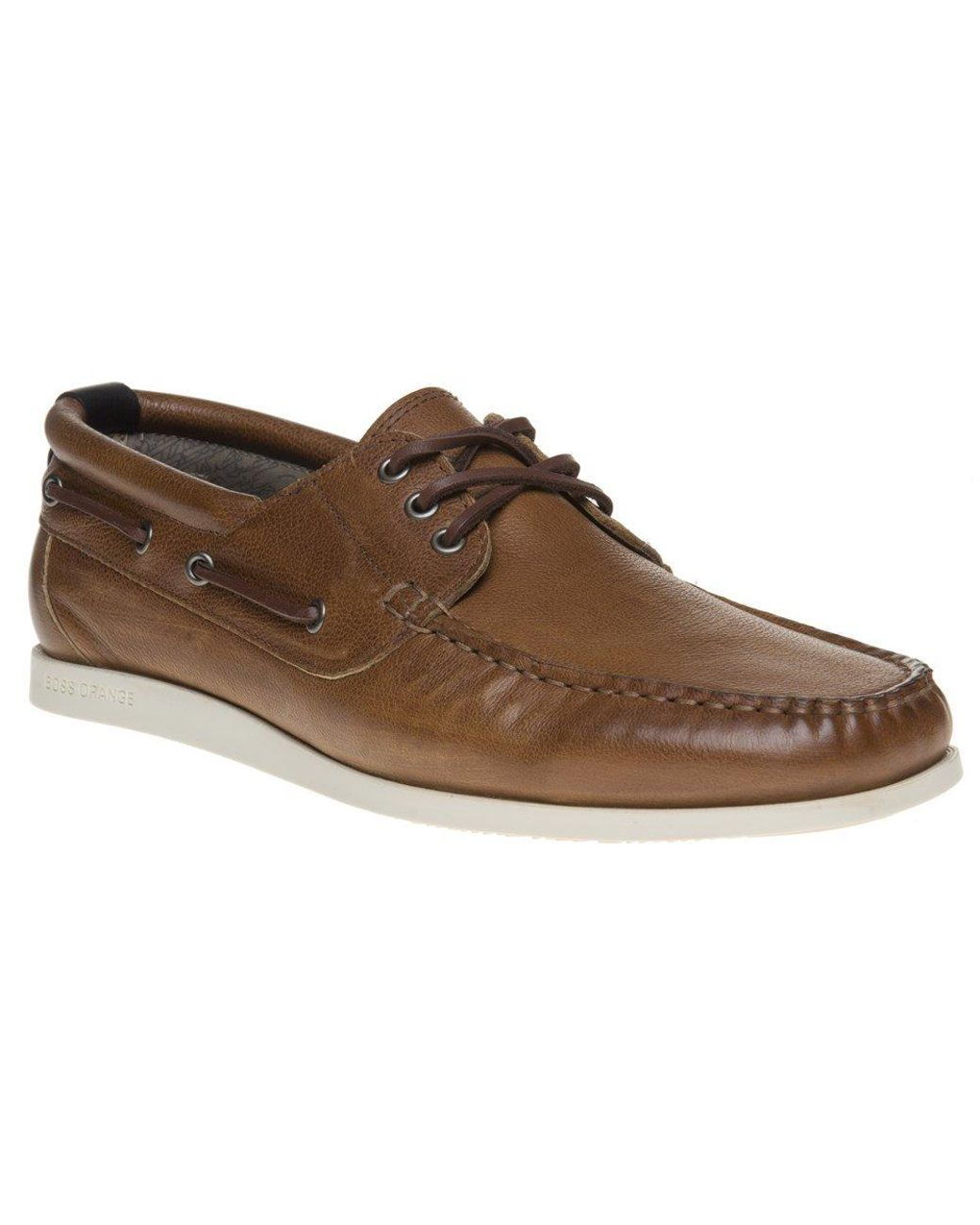 1a3fcaa26761 BOSS Orange Nydec Mocc Shoes in Brown for Men - Lyst