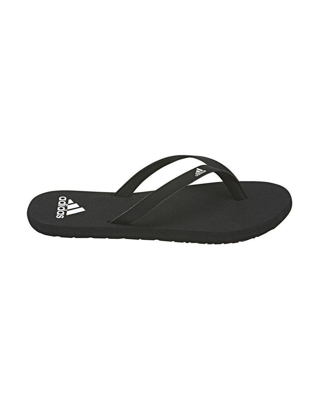 80f946532 adidas Eezay Flip Flop F35035 Women s Flip Flops   Sandals (shoes) In Black  in Black - Lyst