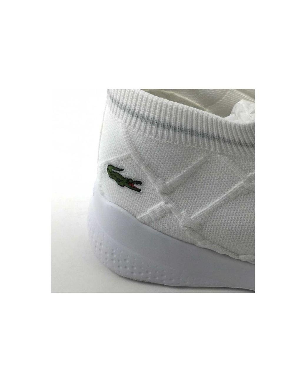 Lt Sock En Coloris Blanc Fit Chaussures Lacoste Femmes 4R35ALqj