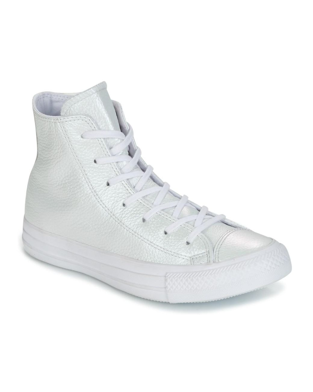 d9b0e0f36b81 Converse. Women s White Chuck Taylor All Star Iridescent Leather Hi  Iridescent Leather H Shoes (high-top Trainers)
