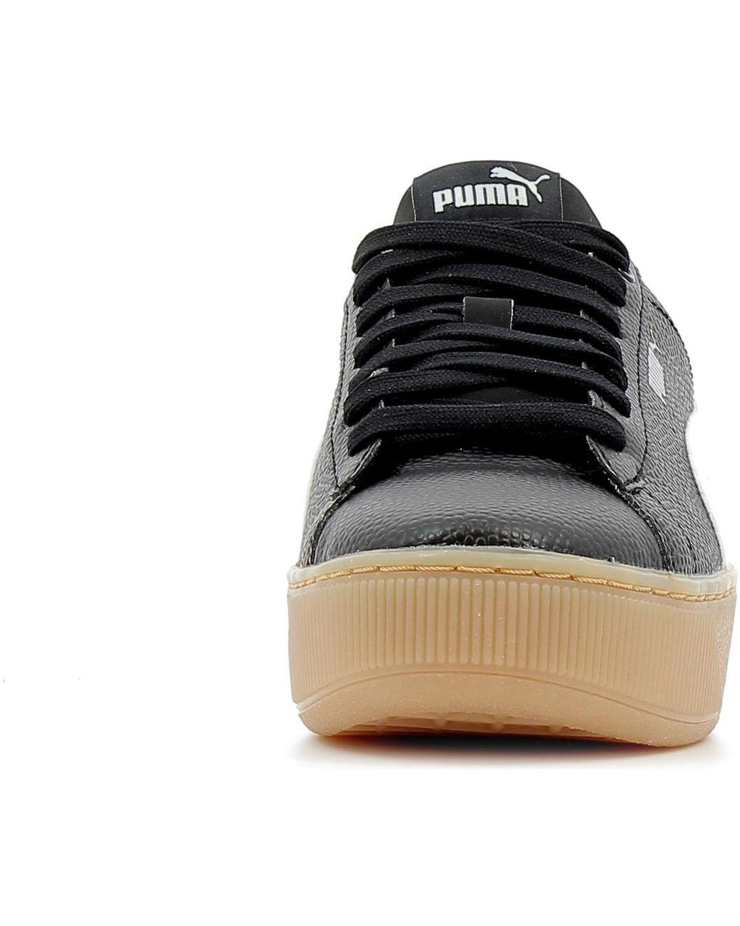 PUMA Lage Sneakers Vikky Platform Bsq in het Zwart Lyst
