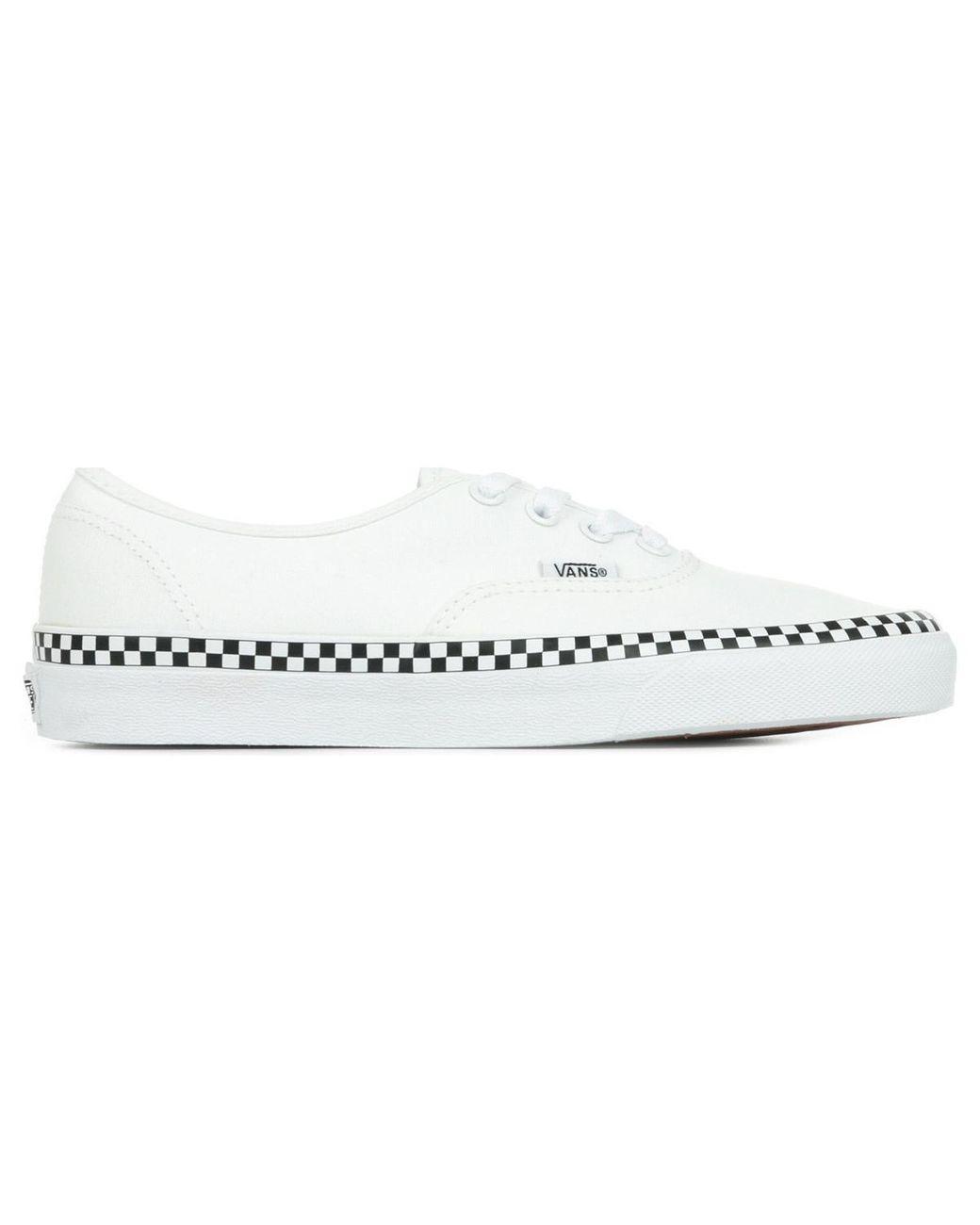 Authentic Baskets Vans en coloris Blanc - Lyst