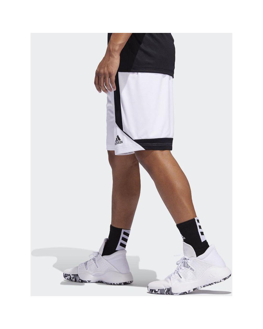 Short Short Creator 365 adidas pour homme en coloris Blanc - Lyst