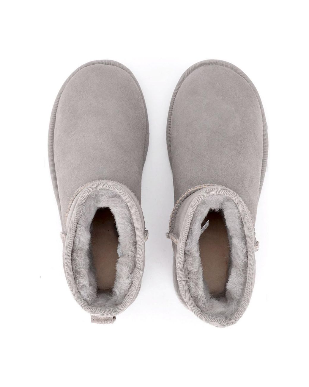 3f376bb849c Gray Classic Ii Mini Light Grey Suede Sheepskin Ankle Boots. Women's Snow  Boots In Grey