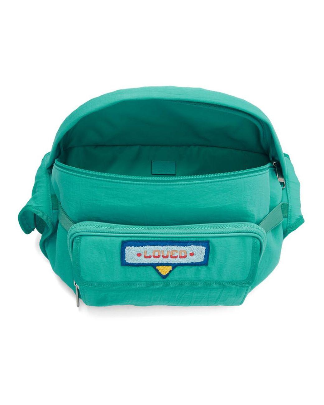 0585fa9477d Lyst - Gucci Blue 80s Logo Patch Belt Bag in Blue for Men