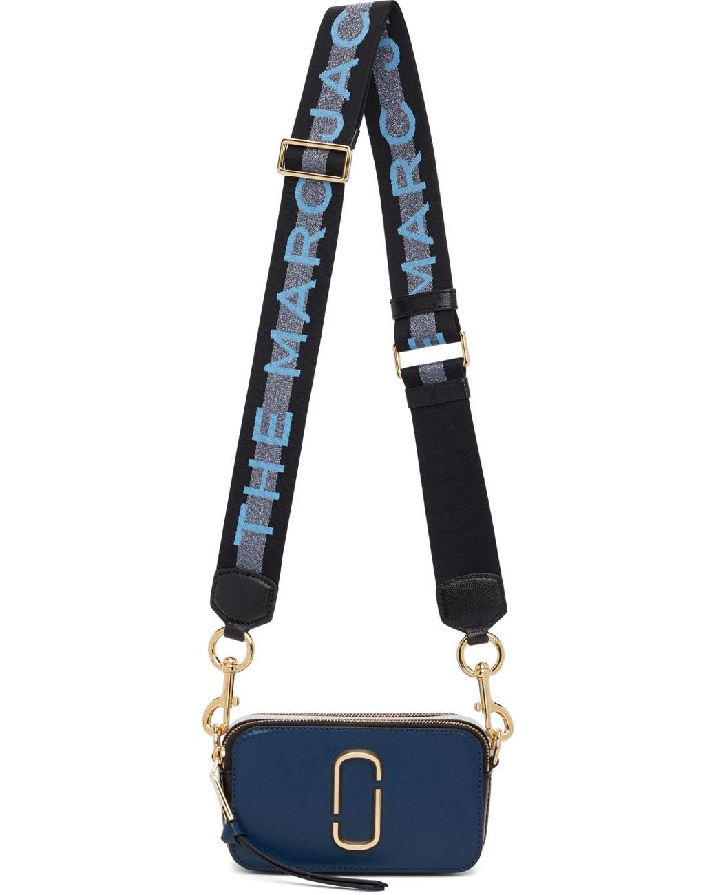 Sac bleu marine 'The Logo Strap Snapshot' Cuir Marc Jacobs en ...