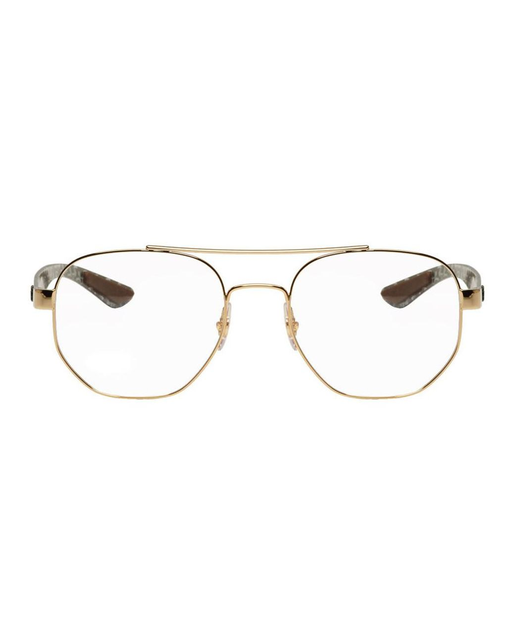585af2d47 Ray-Ban Gold Rb8418 Aviator Glasses in Metallic for Men - Lyst