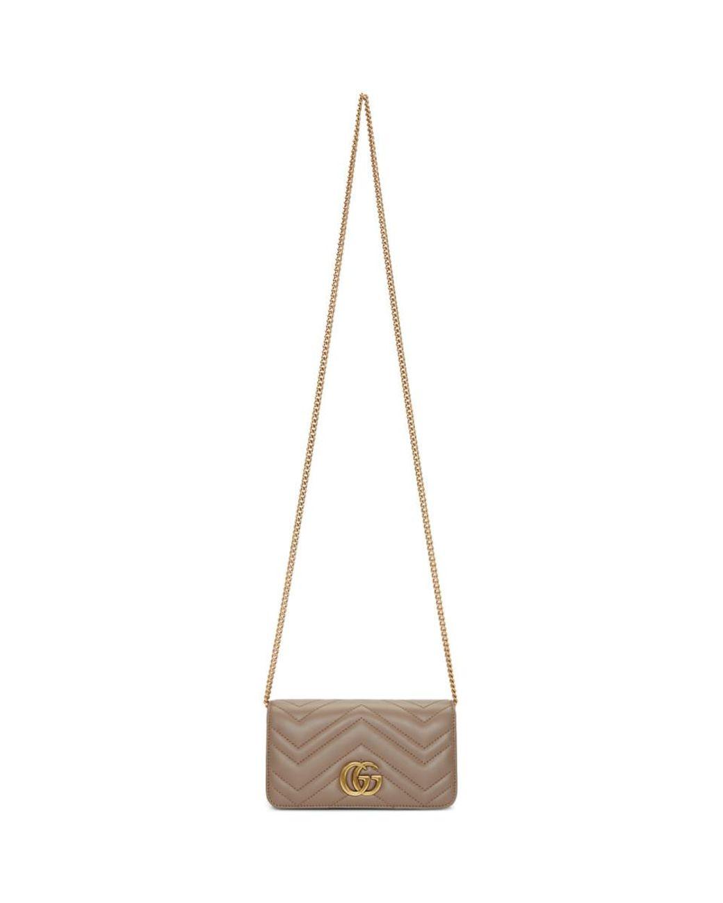 ae7f71b7aef Gucci Pink GG Marmont 2.0 Bag - Lyst