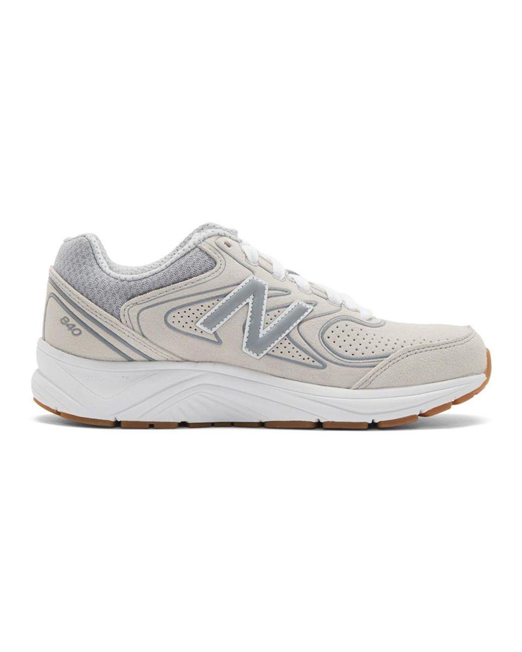 new balance 840 sneakers grigio bianco