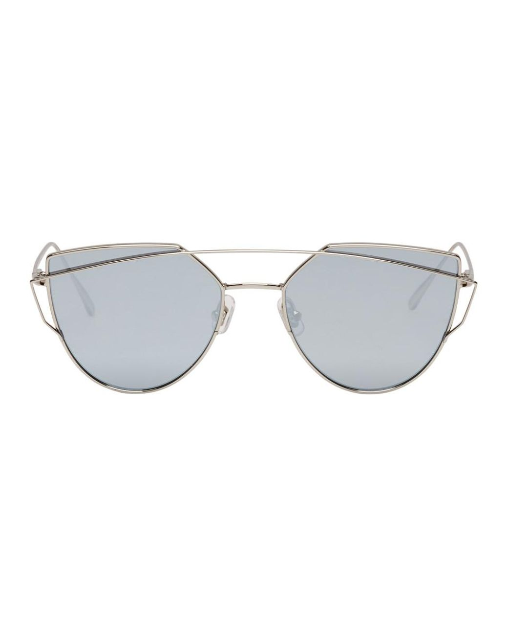 e431327b3ba6 Lyst - Gentle Monster Silver And Blue Love Punch Sunglasses in Metallic