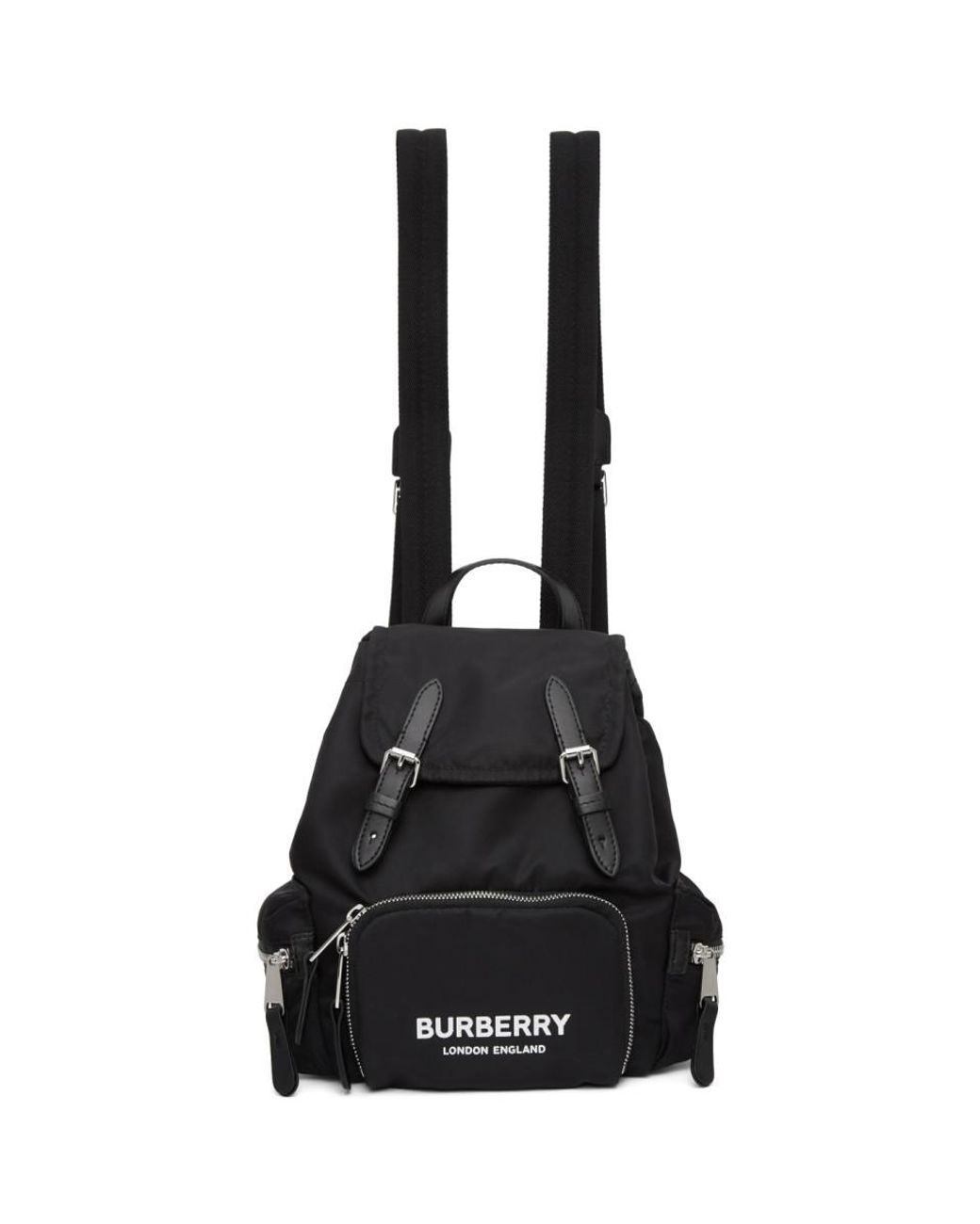 Burberry Synthetic Black Econyl® The Small Rucksack Backpack - Lyst