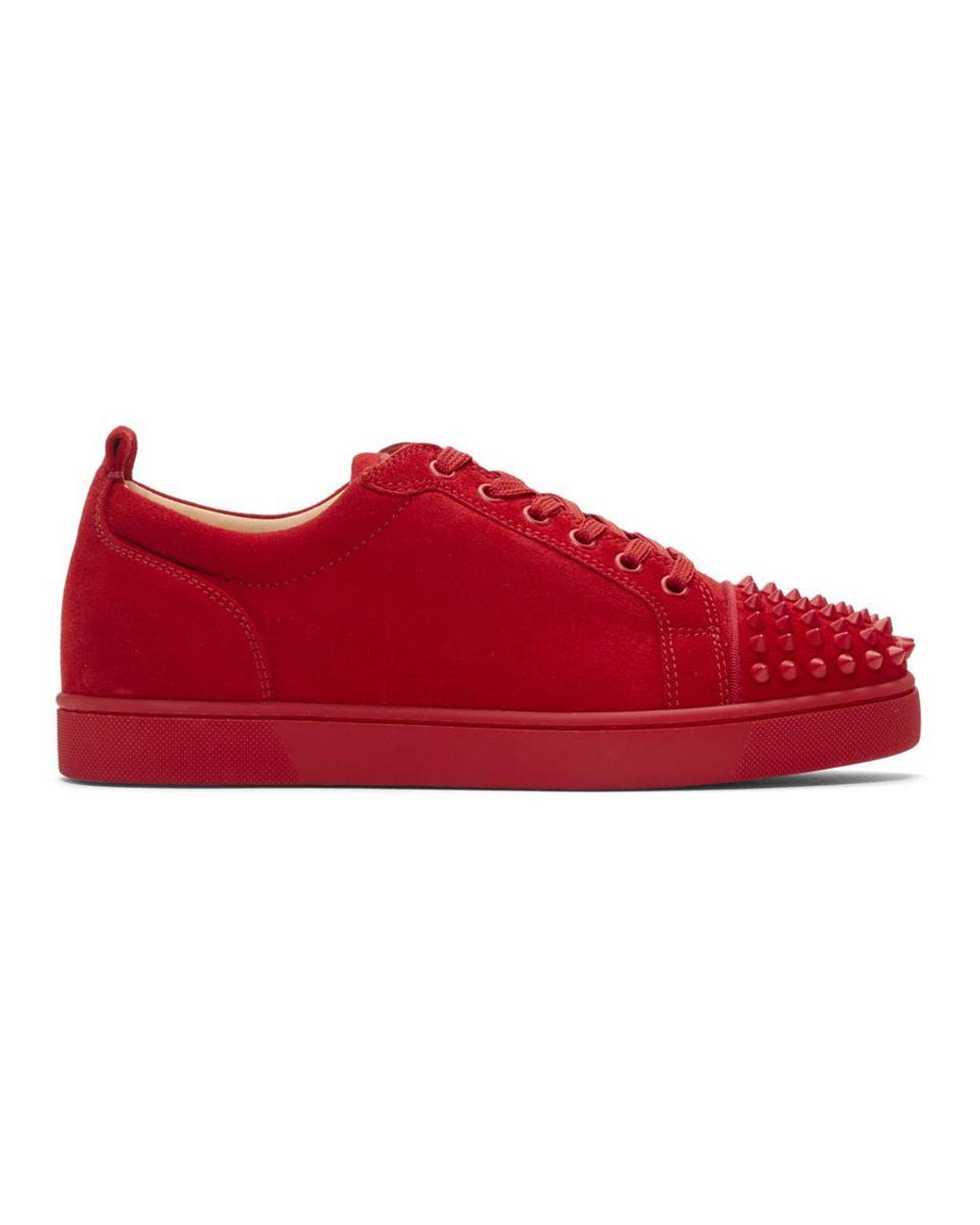buy popular 2b66c 65ed8 Men's Red Suede Louis Junior Spikes Sneakers