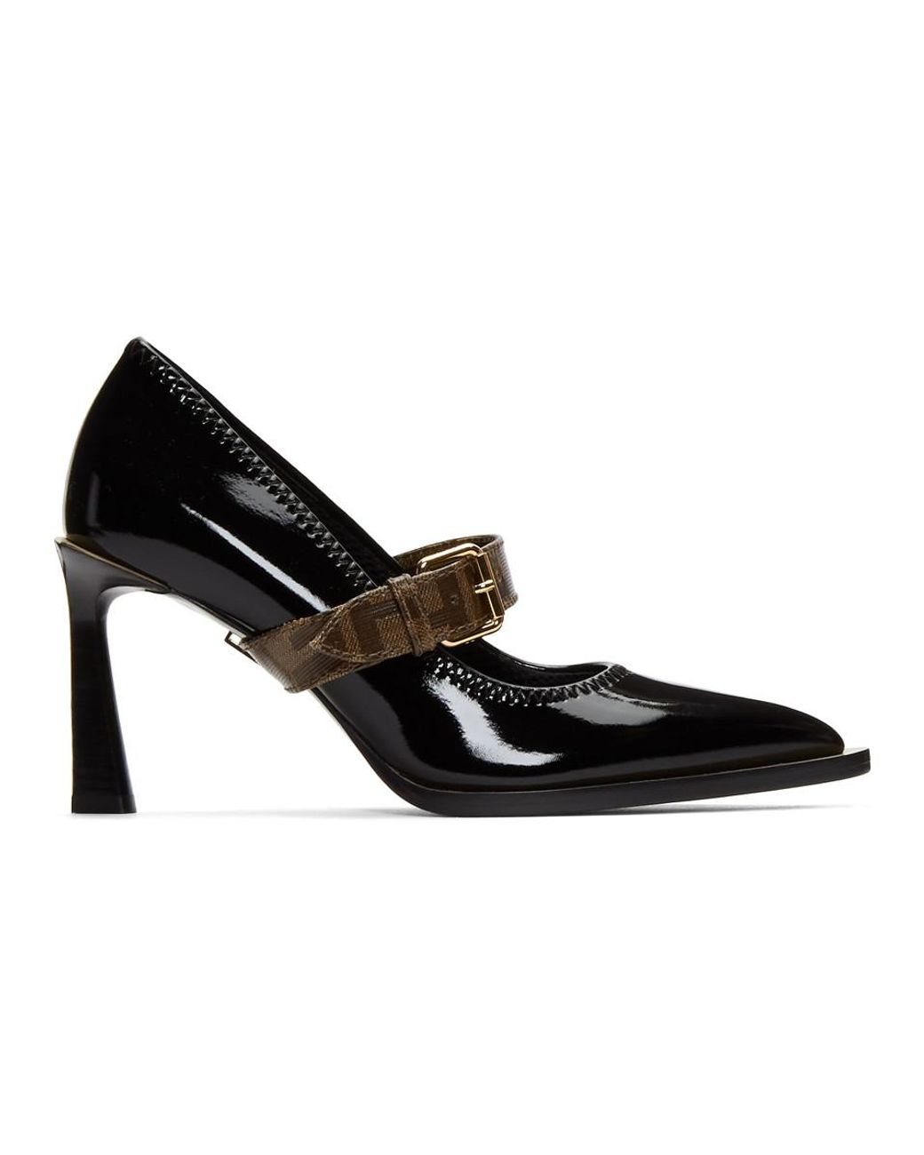 Mary Jane Buckle Leather Pump