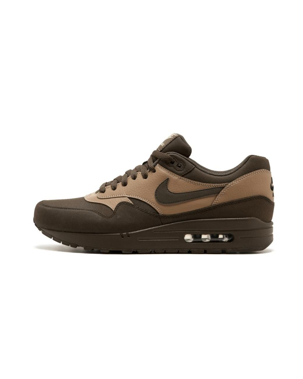 Nike Air Max 1 Ltr Premium Shoes Size 10.5 in 8.5 (Brown