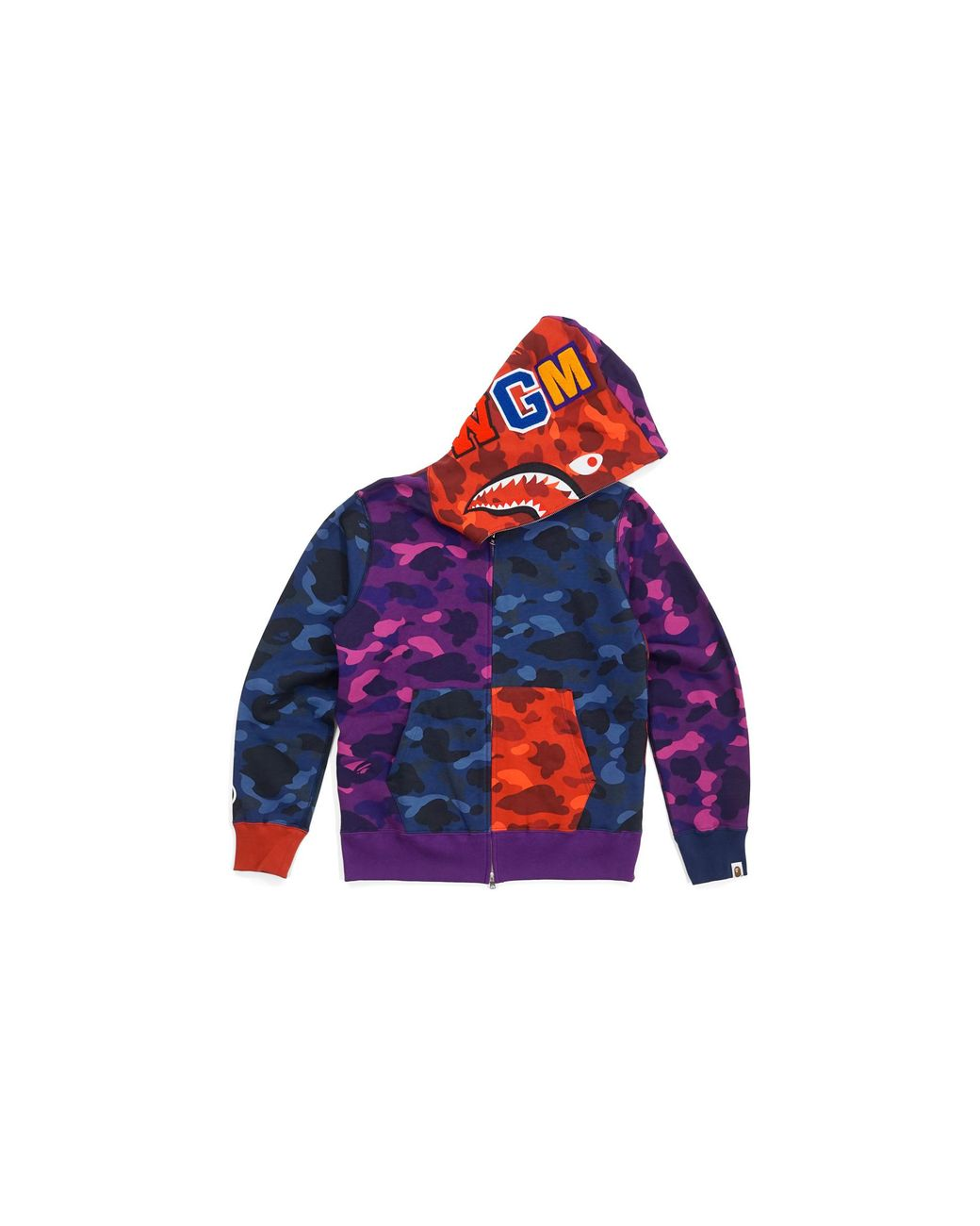 6d133dda A Bathing Ape Ultimate Crazy Color Camo Shark Hoodie Red/blue/purple in Blue  for Men - Lyst