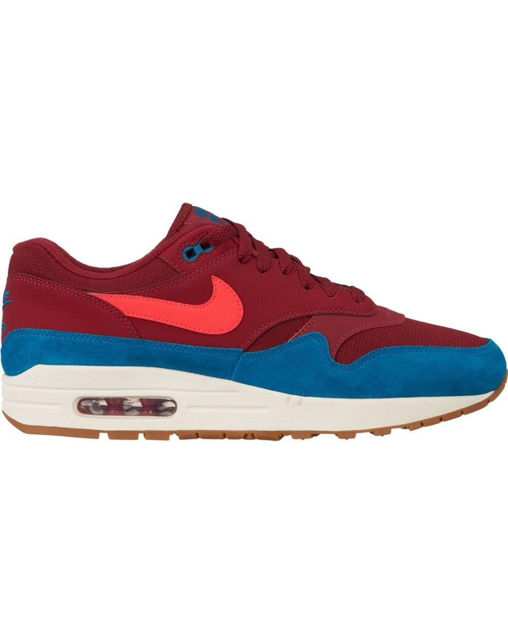 good service best supplier wholesale sales Men's Air Max 1 Team Red Green Abyss