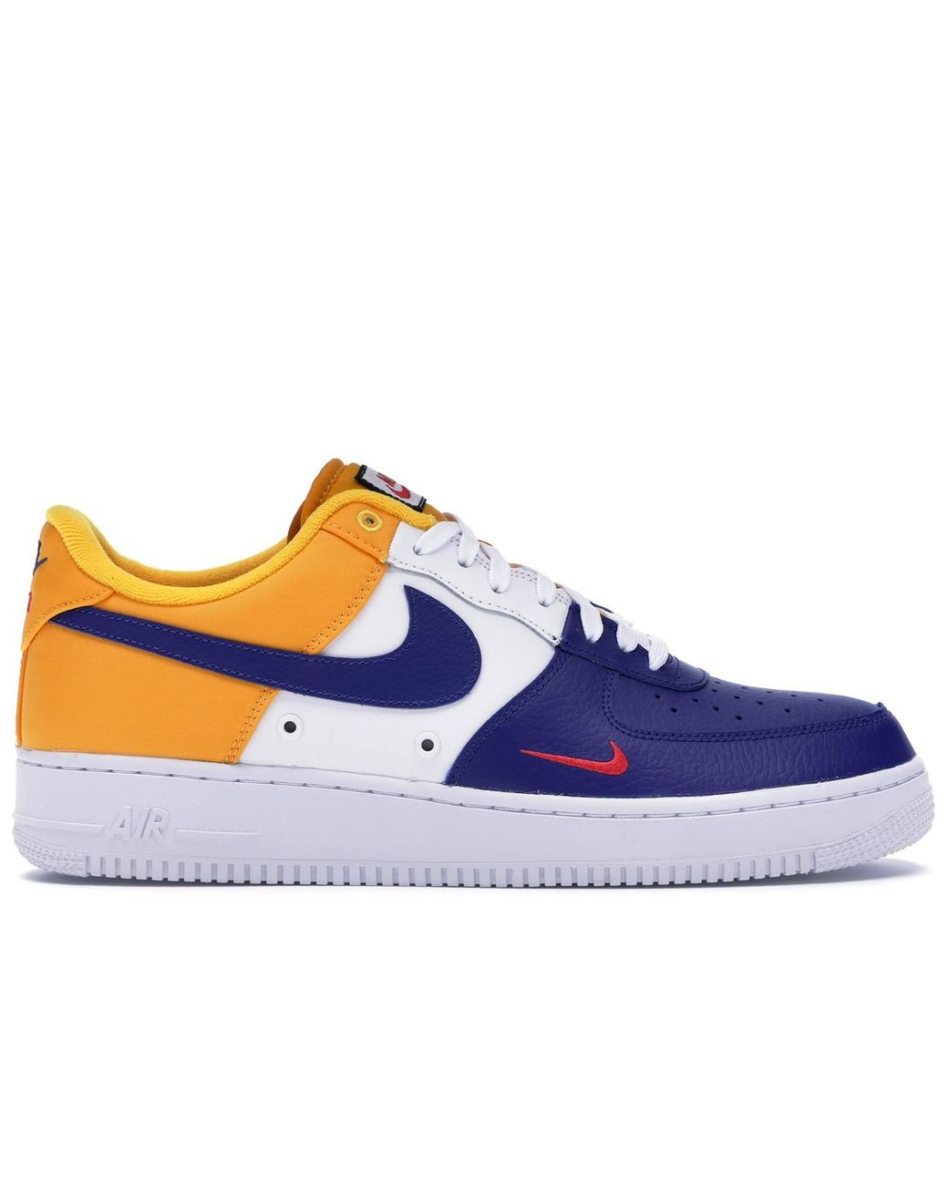 Nike Air Force 1 Low Mini Swoosh Red Blue White for Men and