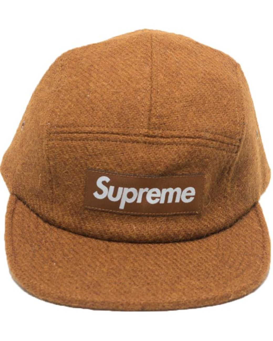 release date 85918 3c4b0 Supreme Featherweight Wool Camp Cap Brown in Brown for Men - Lyst