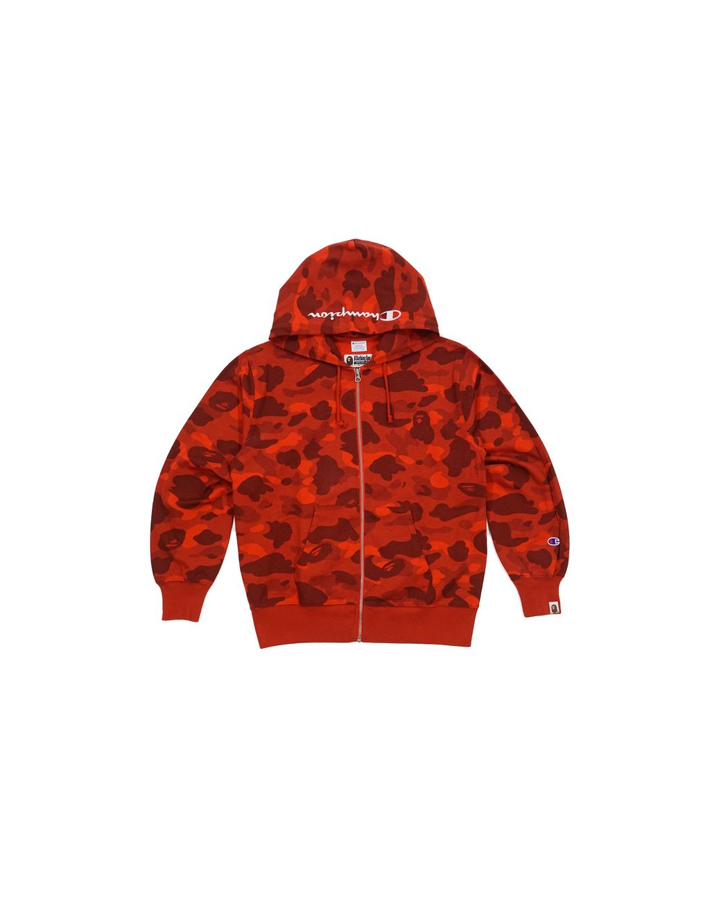 16ad3df4 A Bathing Ape Color Camo Champion Full Zip Hoodie Red in Red for Men - Lyst