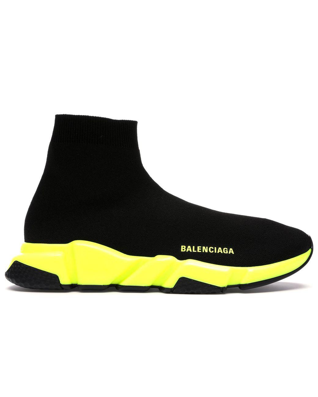 Balenciaga Speed Trainer Black Yellow