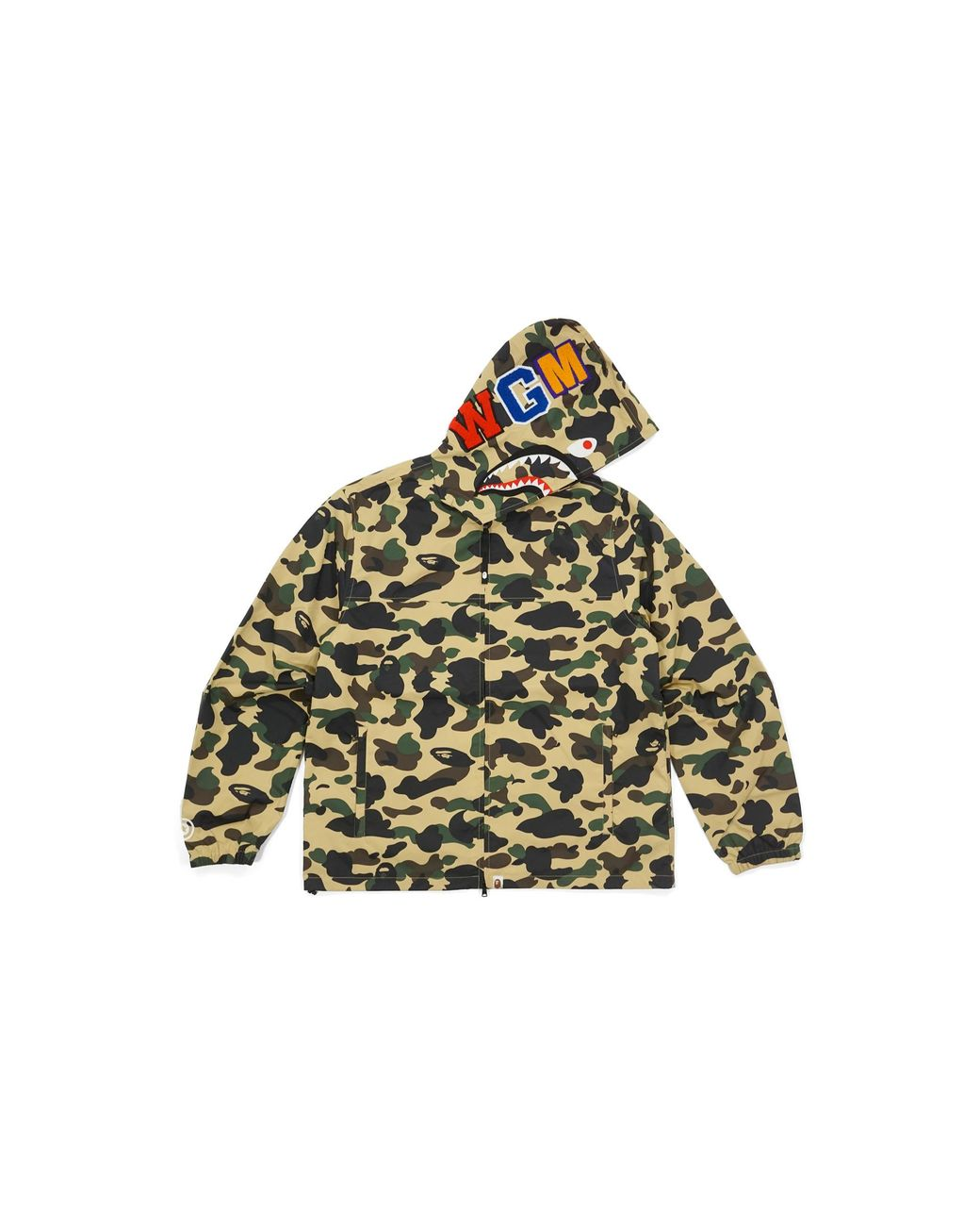 2ff18b799389b A Bathing Ape Ultimate 1st Camo Shark Hooded Jacket Yellow in Yellow for Men  - Lyst