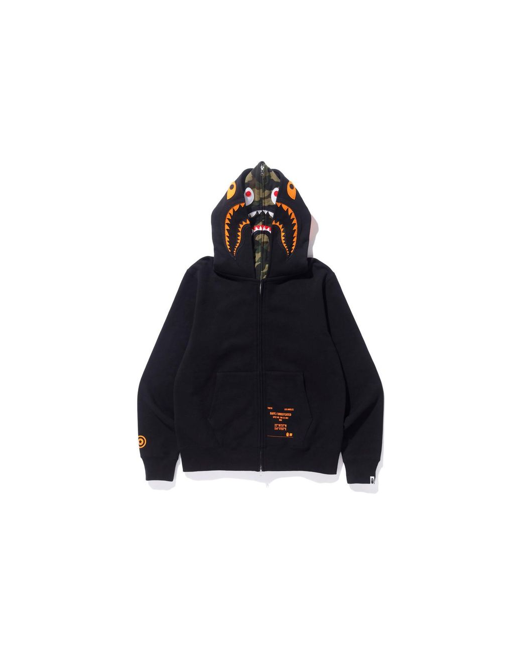 ab354d46 A Bathing Ape X Undefeated Double Shark Full Zip Hoodie Black in Black for  Men - Lyst