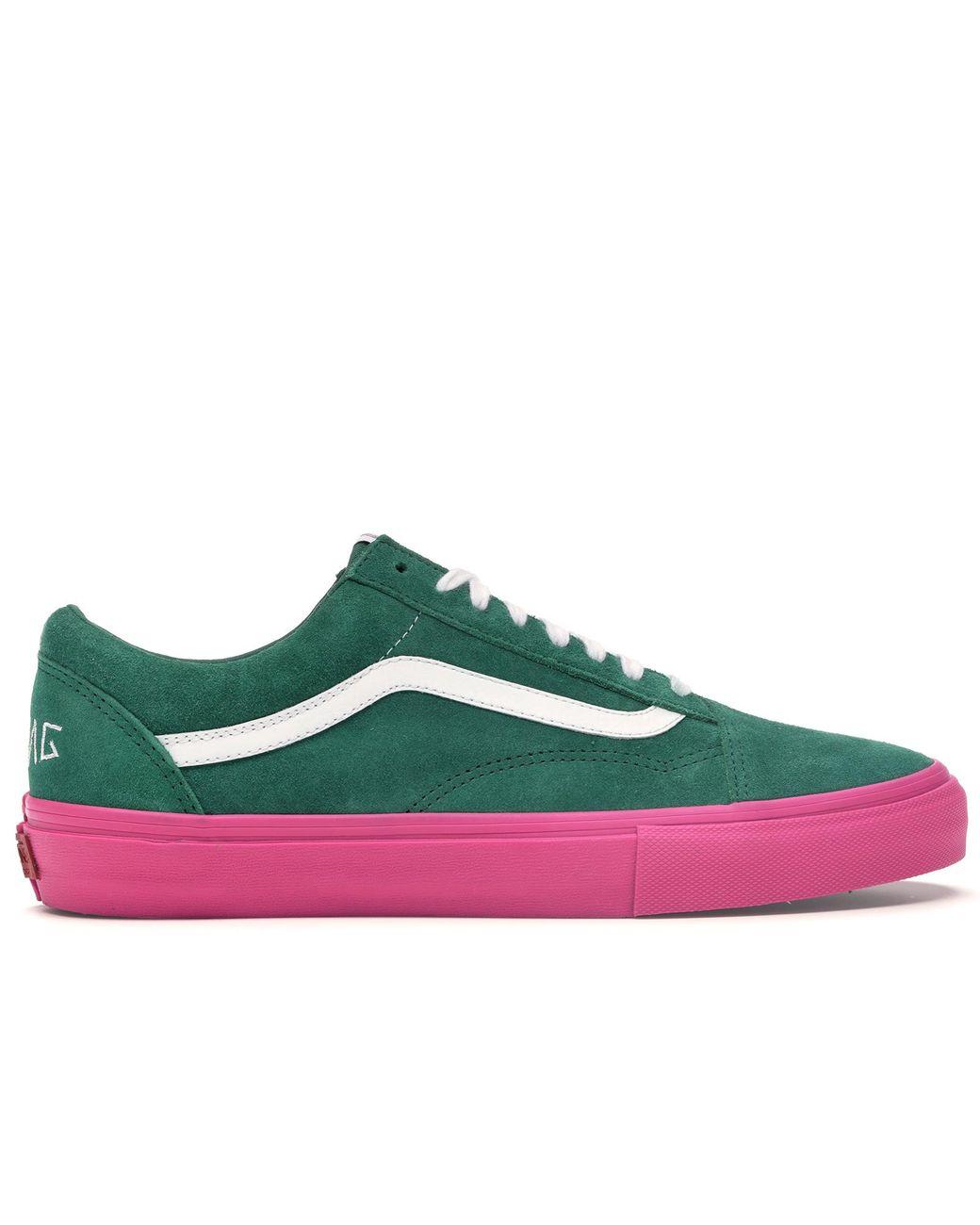 9bf8d05af30839 Lyst - Vans Old Skool Pro S Golf Wang Green Pink in Green for Men