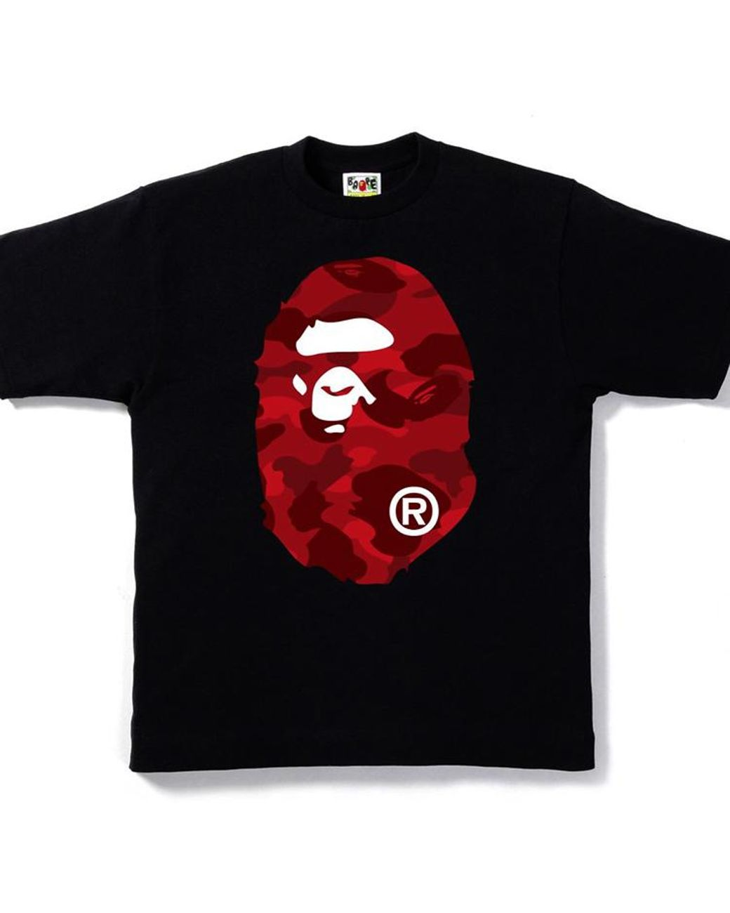 72d670a7 A Bathing Ape Color Camo Big Ape Head Tee Black/red in Black for Men - Lyst