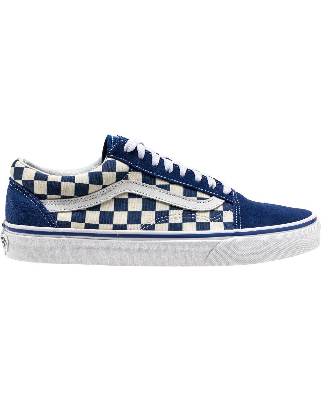 Vans Old Skool Blue Checkerboard for