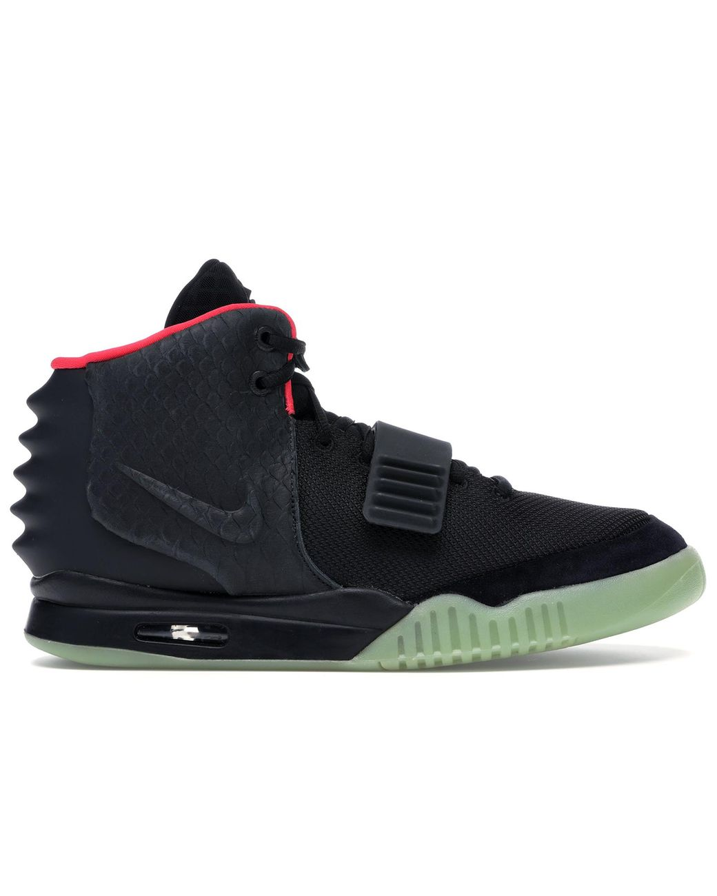 sale retailer 09231 8ade1 Men's Black Air Yeezy 2 Solar Red
