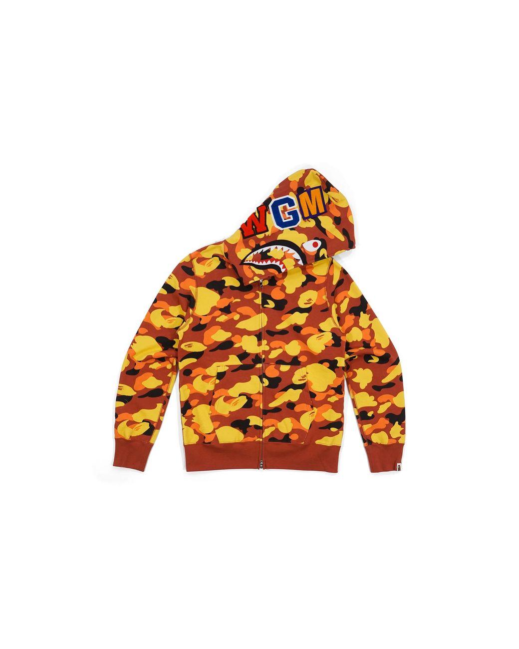 ab5c9d24 A Bathing Ape Ultimate 1st Camo Wgm Wappen Shark Orange in Orange for Men -  Lyst
