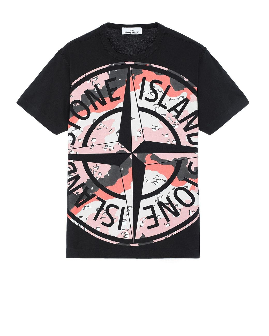 Sage Stone Island 2NS84 Graphic Two Half-Sleeve T-Shirt