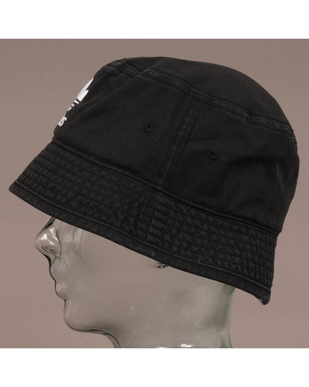 c7aa443fc03 adidas Originals Trefoil Bucket Hat - Black in Black for Men - Lyst