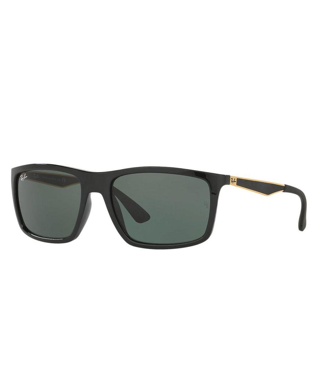 Men S Black Gold Rb4228 Sunglasses Green Classic Lenses
