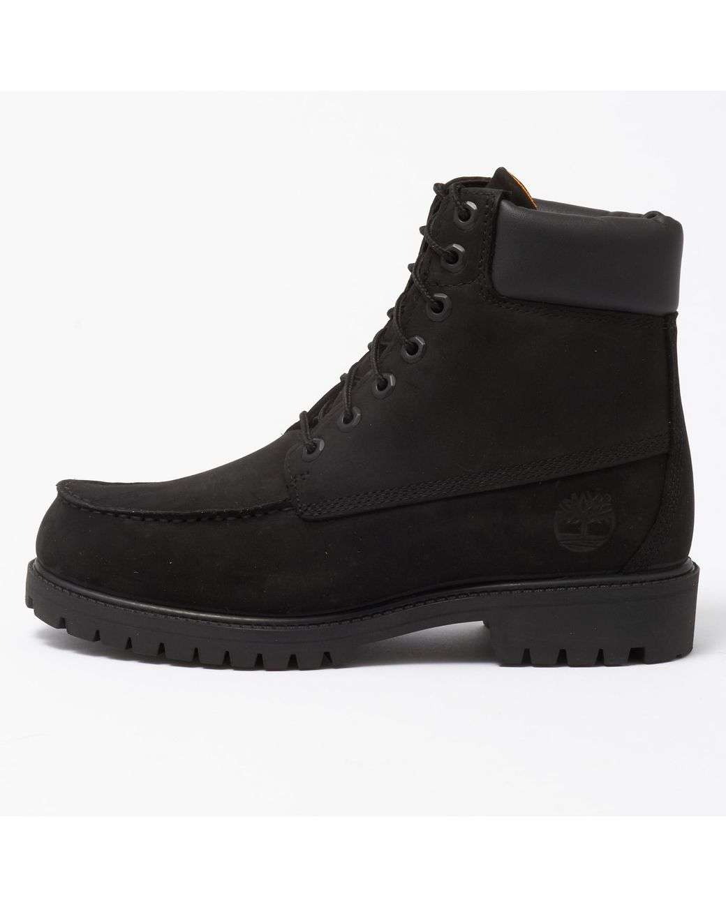 Timberland Leather Icon 6 Inch Moc Boot in Black for Men