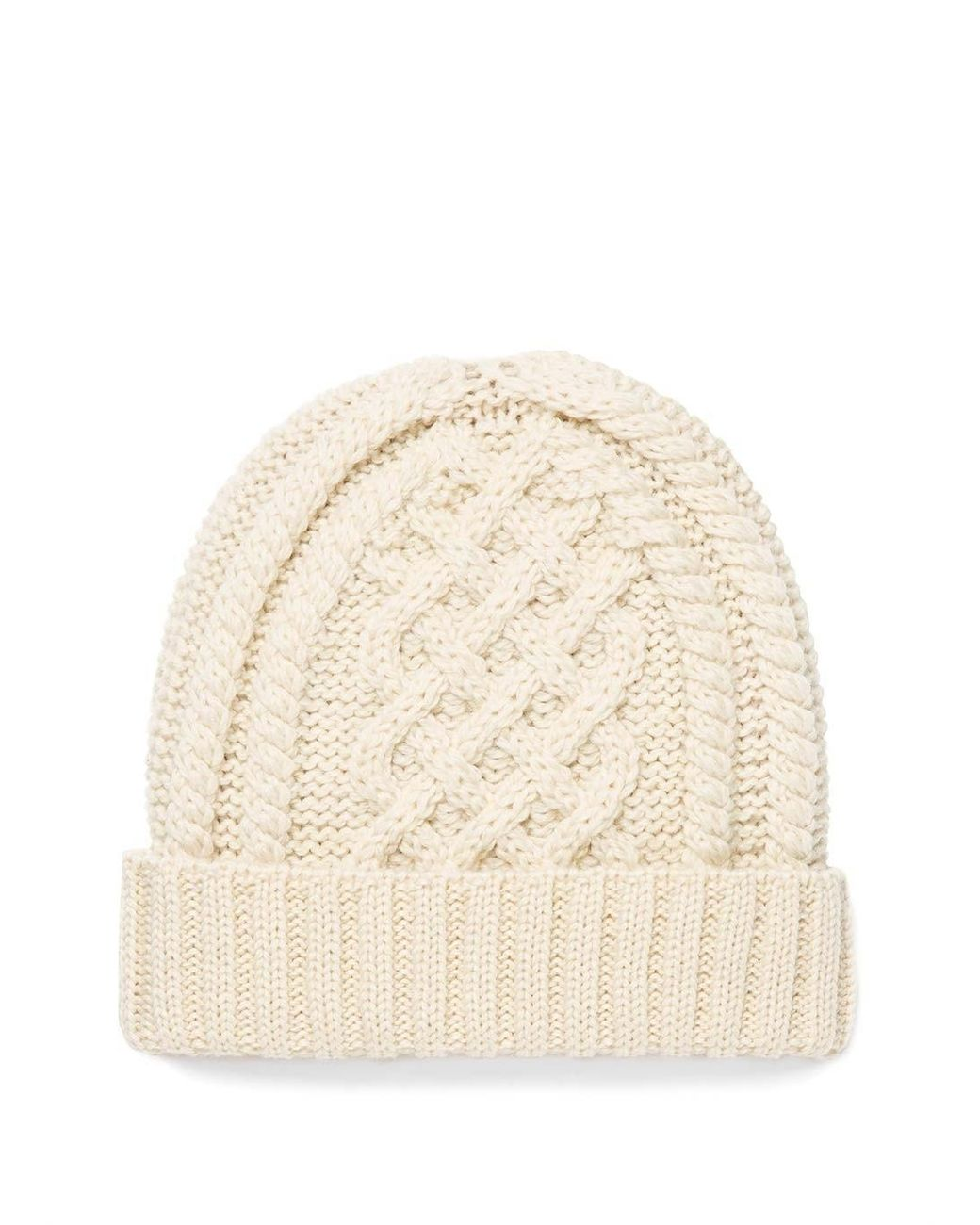 5a2357d3 Women's Merino Wool Cable Knit Hat In Archive White