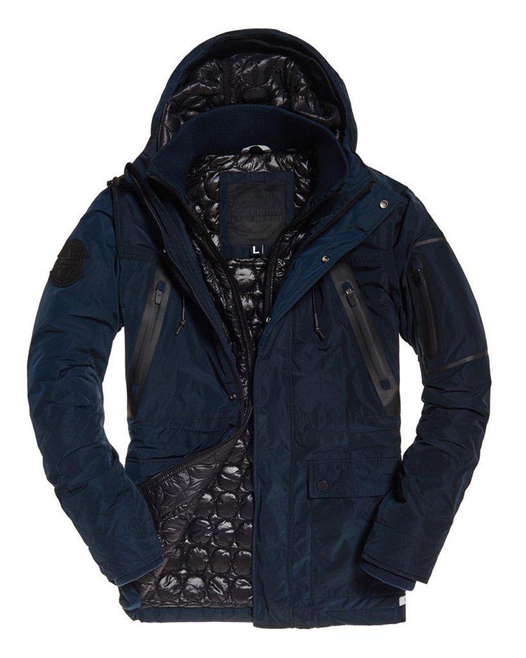 T Tahari Maya Packable Zoey Ruffled Puffer coat Jacket Navy