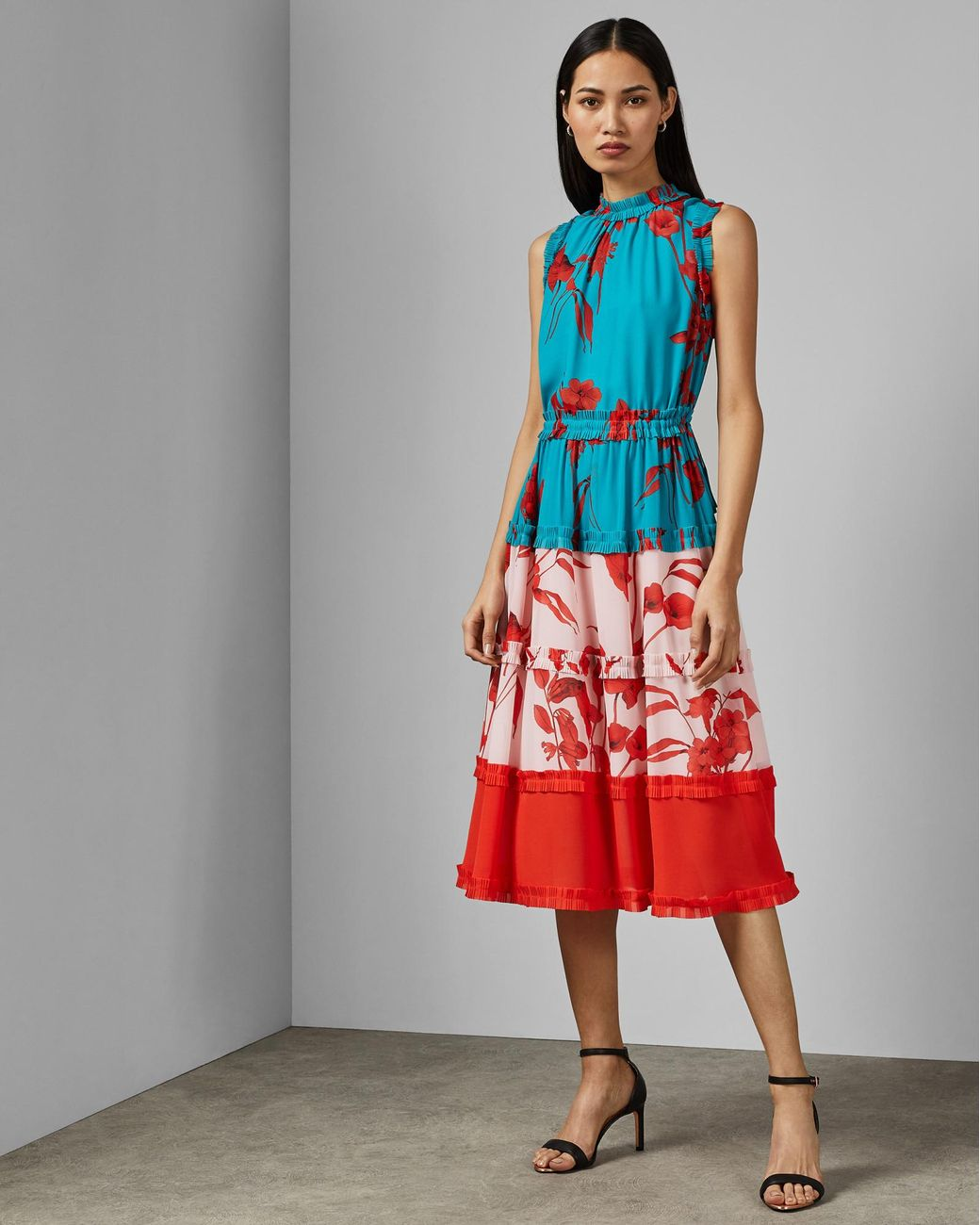 875e97d48d Ted Baker Fantasia Tiered Midi Dress - Lyst