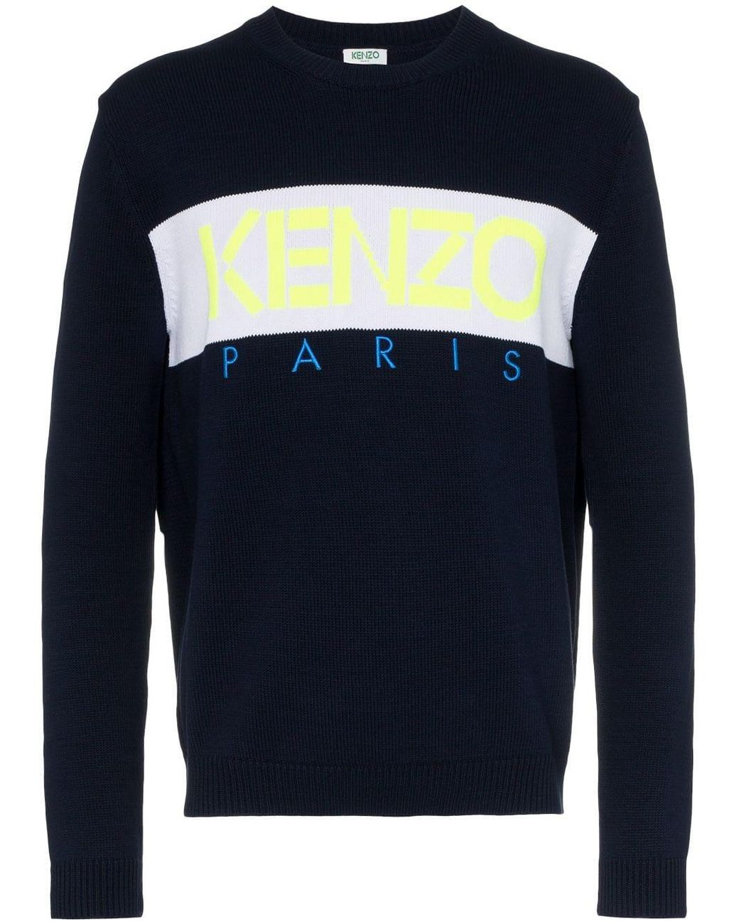c813495f1 Long-Touch to Zoom. Long-Touch to Zoom. 1; 2; 3; 4; 5. KENZO - Blue Tiger  Embroidery Sweatshirt for Men - Lyst ...