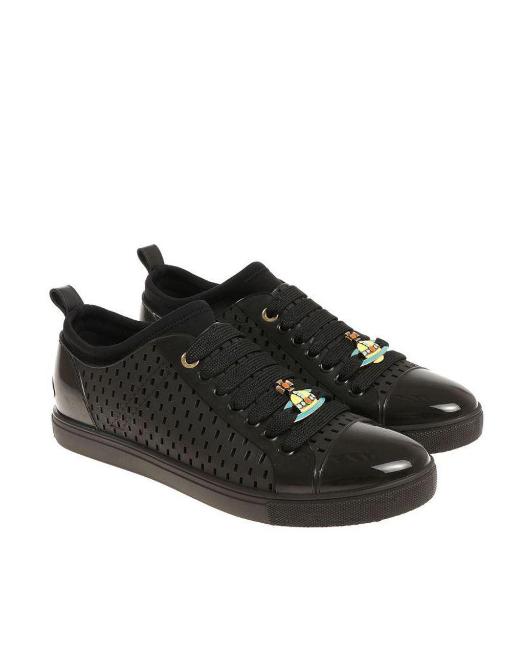 2de48466fc42b Vivienne Westwood Black Orb Sneakers in Black for Men - Lyst
