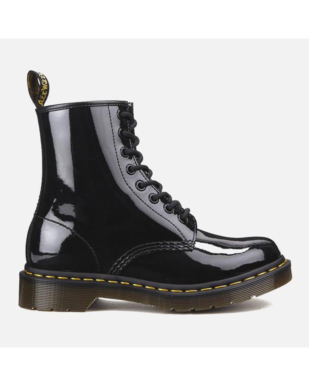 1460 Patent Lamper 8-eye Boots in Black