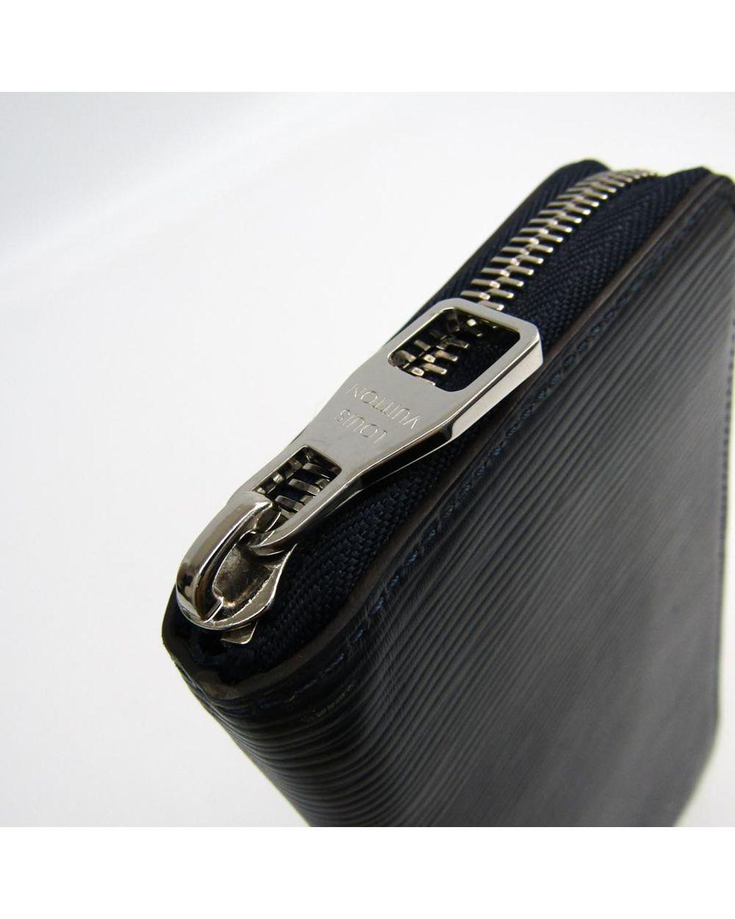 19277db1a73 Men's Blue Indigo Epi Leather Vertical Zippy Wallet
