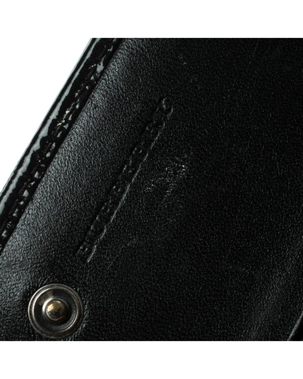 260122b914c0 Burberry Beat Check Nylon And Patent Leather Penrose Continental Wallet in  Black - Lyst