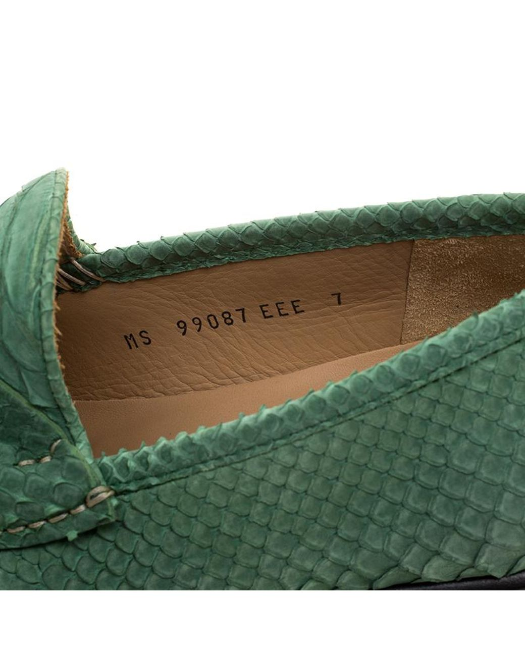 fa63f7dad247d Ferragamo Green Python Leather Mason Loafers Size 41 in Green for Men - Lyst