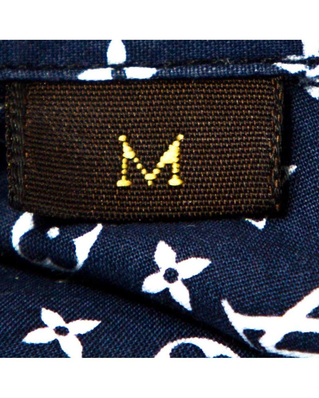 Louis Vuitton Multicolor Monogram Stars Print Cotton Shirt M In Blue For Men Lyst