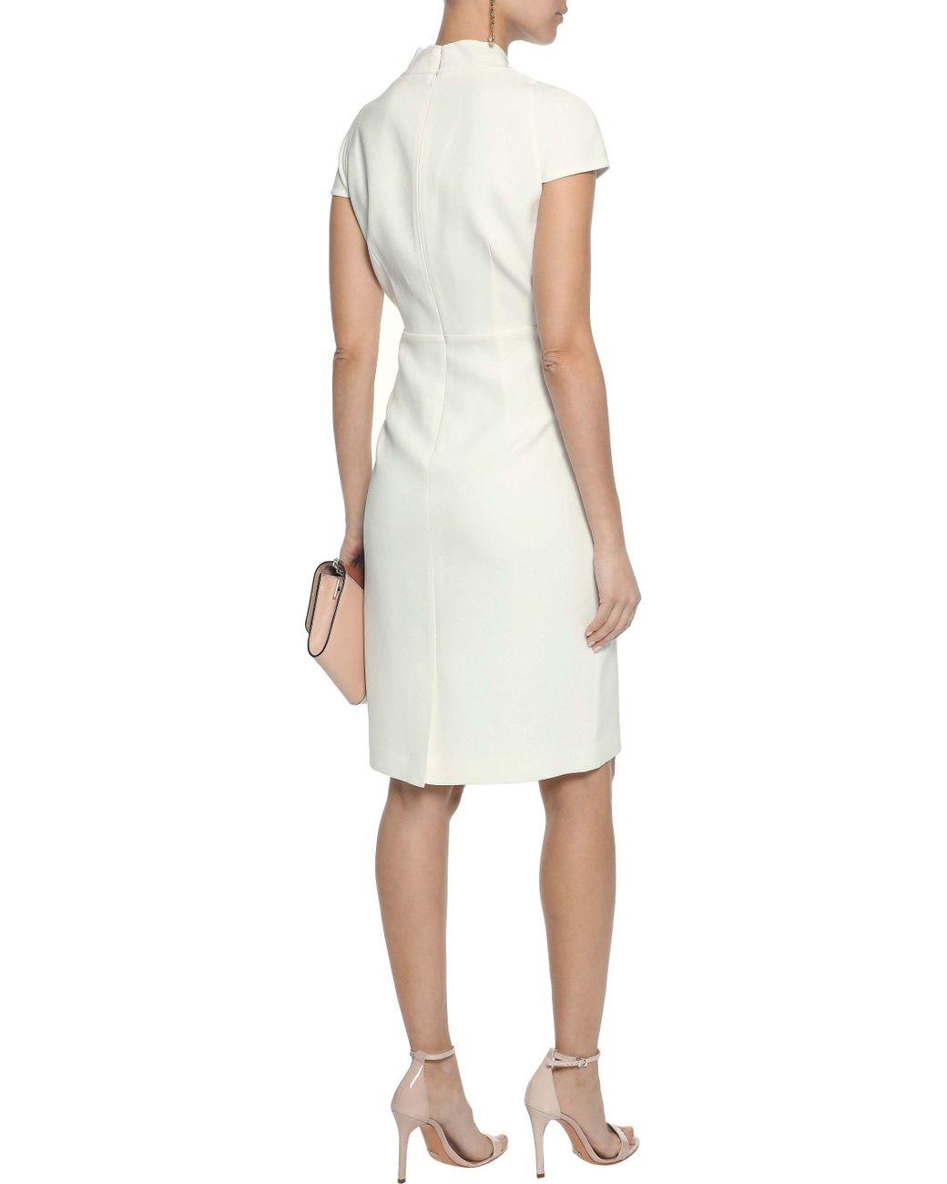 6f5efe45 Elie Tahari Woman Gerarda Pleated Crepe Dress Ivory in White - Lyst